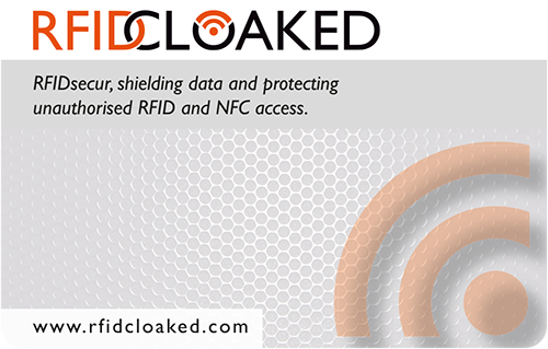RFID Cloaked RFIDsecur Carbon White contactless blocking card