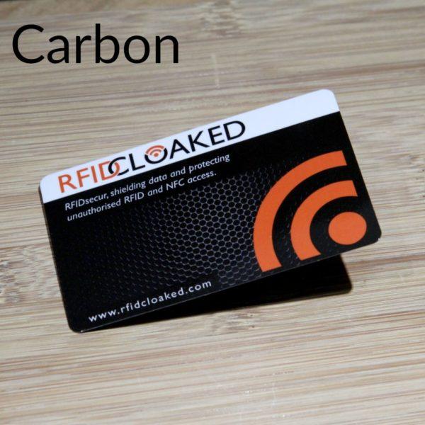 RFID Blocking Card Pack, RFIDsecur™ Blocking Card Carbon