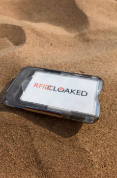 RFID Blocking Wallet on the beach