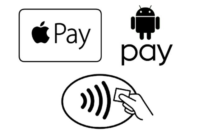 Apple Pay G Pay and contactless logos