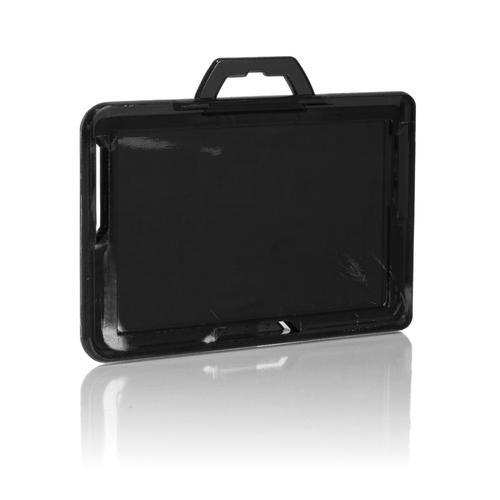 RFID Secure Badge Holder One Card Landscape back black, ID Stronghold, RFID Cloaked, photo