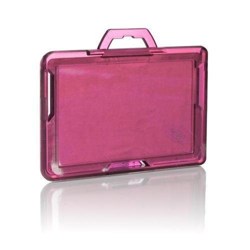 RFID Secure Badge Holder, One Card, Landscape back pink ID Stronghold RFID Cloaked, photo