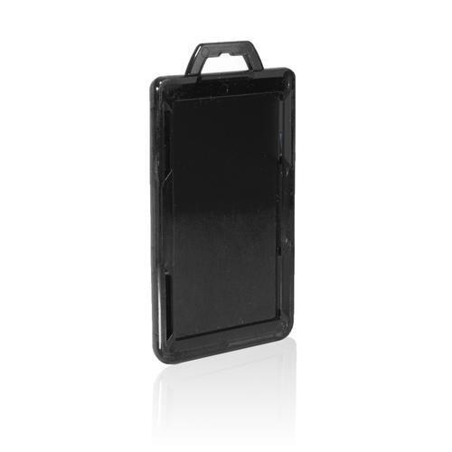 RFID Secure Badge Holder, One Card, Vertical back black ID Stronghold RFID Secure, photo