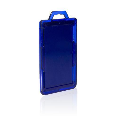 RFID Secure Badge Holder, One Card, Vertical back blue ID Stronghold RFID Secure, photo
