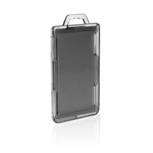 RFID Secure Badge Holder, One Card, Vertical back clear ID Stronghold RFID Secure, photo