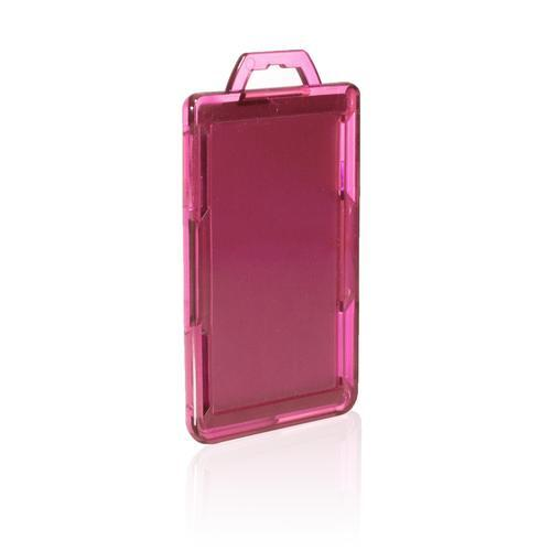 RFID Secure Badge Holder, One Card, Vertical back pink ID Stronghold RFID Secure, photo