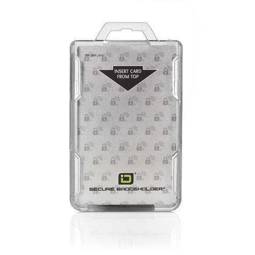 RFID Secure Badge Holder, One Card, Vertical clear ID Stronghold RFID Secure, photo